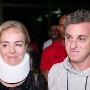 Luciano Huck e Angélica voltam para casa e reencontram os filhos após acidente