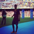 O sorriso de Neymar com o uniforme do Barcelona no Camp Nou