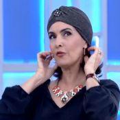 Fátima Bernardes experimenta turbante no 'Encontro' e aprova visual: 'Ficou bom'