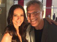 Após casamento, Pedro Bial grava comercial de carro com a atriz Paolla Oliveira