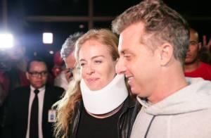 Luciano Huck e Angélica gravam abertura de seus programas em casa após acidente