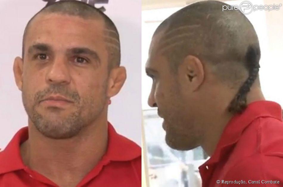 Vitor Belfort deu uma entrevista coletiva nesta sexta-feira, 29 de maio de 2015, em sua academia no Rio de Janeiro. O atleta chamou a atenção para seu novo corte de cabelo, que batizou de 'samurai'