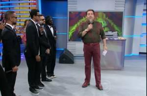 Faustão reclama por Record não liberar cantora da Melanina Carioca no 'Domingão'