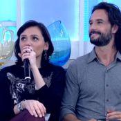 Monica Iozzi invade 'Encontro' para tietar Rodrigo Santoro: 'Amo muito você'