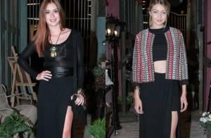 Marina Ruy Barbosa e Gigi Hadid apostam na mesma saia com fenda em evento em SP