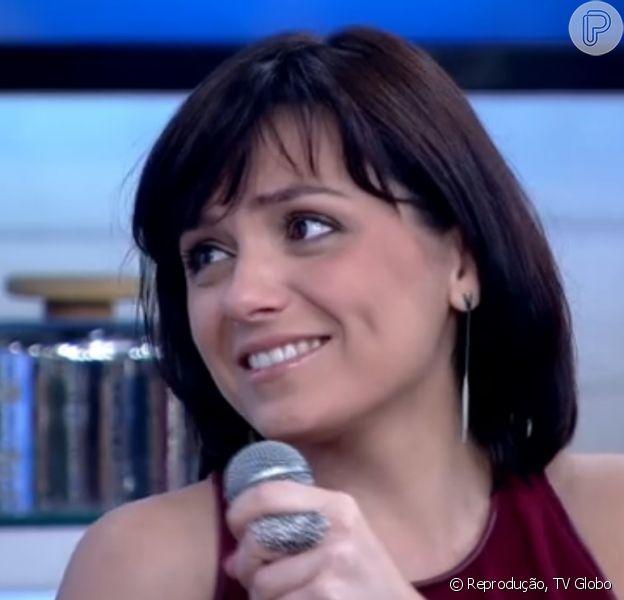 Monica Iozzi brincou com relação ao presente de Dia dos Namorados para Felipe Atra, durante o 'Encontro com Fátima Bernardes', desta sexta-feira, 12 de junho de 2015: 'Não deu tempo para comprar nada, mas eu amo você muito'