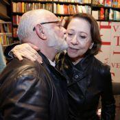 Tony Ramos e Fernanda Montenegro se encontram em evento de Silvio de Abreu