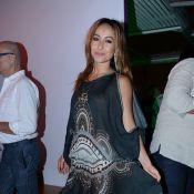 Sabrina Sato vai à festa com vestido comportado, em São Paulo