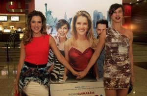 Ingrid Guimarães e Maria Paula lançam o filme 'De pernas pro ar 2' em São Paulo