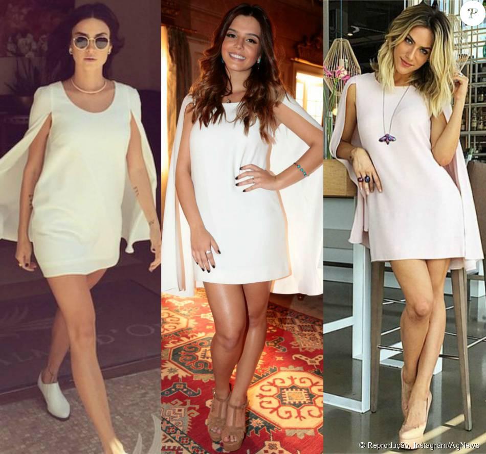 4cd80949d91 Thaila Ayala usou primeiro o vestido capa da grife Lu Monteiro. Peça de R   2.580 foi usada depois por Giovanna Ewbank e Giovanna Lancellotti
