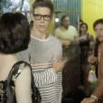 Marcio Garcia chegou a protagonizar uma das cenas mais engraças ao lado de Vladimir Brichta e Fernanda Torres na porta de um samba
