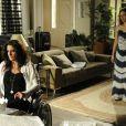 Paloma (Paolla Oliveira) pergunta a Mariah (Lúcia Veríssimo) por que ela a abandonou em 'Amor à Vida'