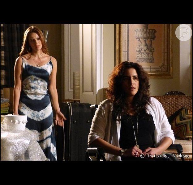 Paloma (Paolla Oliveira) fica frente a frente com Mariah (Lúcia Veríssimo), sua mãe biológica, em 'Amor à Vida', em 25 de julho de 2013