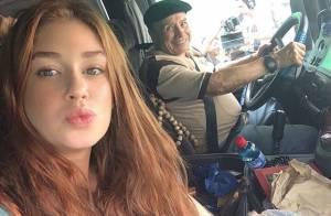 Marina Ruy Barbosa grava com Stênio Garcia e revela volta de personagem: 'Bino'