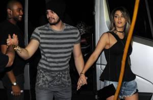 Luan Santana chega a show de mãos dadas com a namorada, Jade Magalhães