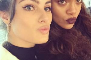 Isabeli Fontana faz selfie com Rihanna na Paris Fashion Week: 'A mais hot!'