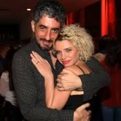 Recém-separados, Bruna Linzmeyer e Michel Melamed se abraçam no Festival do Rio
