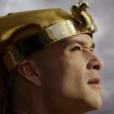 Ramsés (Sérgio Marone) vê a sétima praga se aproximando, na novela 'Os Dez Mandamentos'