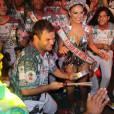 Paloma Bernardi foi coroada rainha de bateria da Grande Rio na noite de sábado, dia 10 de outubro de 2015
