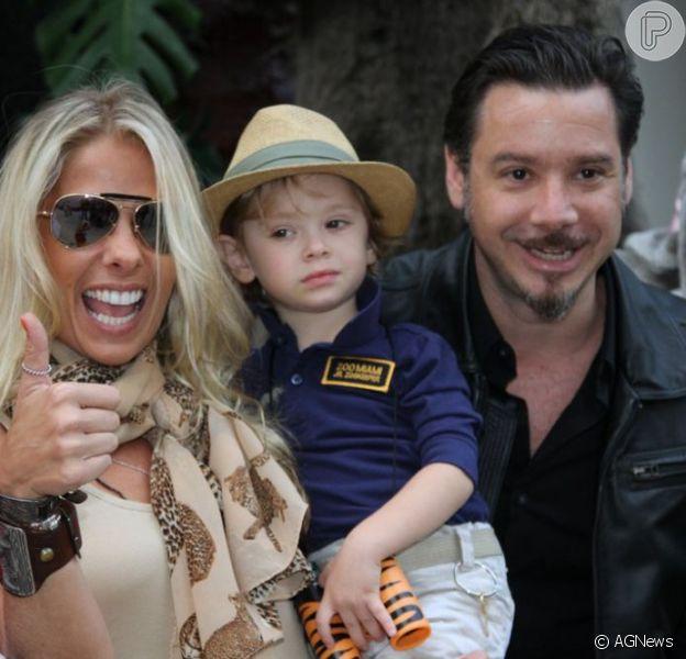 Vittorio, filho de Adriane Galisteu e Alexandre Iódice, comemora 3 anos em São Paulo, em 5 de agosto de 2013