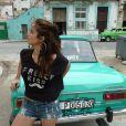 O ensaio de Nanda Costa foi feito nas ruas de Havana, capital de Cuba