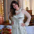 Natália (Daniela Escobar) está prestes a se casar com Juliano (Bruno Gissoni), em 'Flor do Caribe'