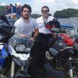 Marco Pigossi mostra foto de uma de suas viagens de moto com o pai, o cirurgião plástico Oswaldo Pigossi.
