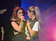 Wanessa canta em concurso de miss e sensualiza com Luiza Possi em boate gay