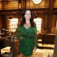 A atriz Claudia Ohana esteve na coletiva de imprensa de 'Joia Rara', próxima novela das seis