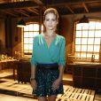A atriz Luiza Valdetaro esteve na coletiva de imprensa de 'Joia Rara', próxima novela das seis