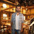 Thiago Lacerda esteve na coletiva de imprensa de 'Joia Rara', próxima novela das seis, trama que marca a volta do ator às telinhas