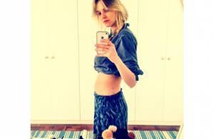 Carol Trentini exibe barriga sequinha apenas 12 dias após dar à luz Bento