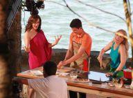 Enzo Celulari cozinha para Claudia Raia e Angélica na gravação do 'Estrelas'