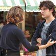 Bento (Marco Pigossi) e Amora (Sophie Charlotte) brigam, em 'Sangue Bom'