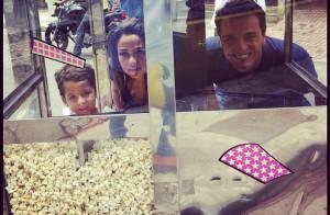 Nanda Costa posta foto com Rodrigo Lombardi nos bastidores de 'Salve Jorge'