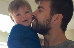 Shakira mostra foto do filho Sasha com o pai, Gerard Piqué: 'Me derreto'