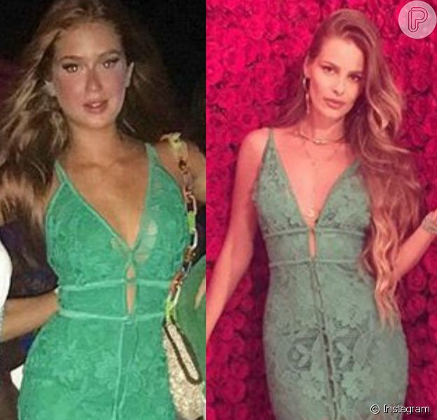 Marina Ruy Barbosa repetiu vestido de aproximadamente R$ 2 mil já usado por Yasmin Brunet