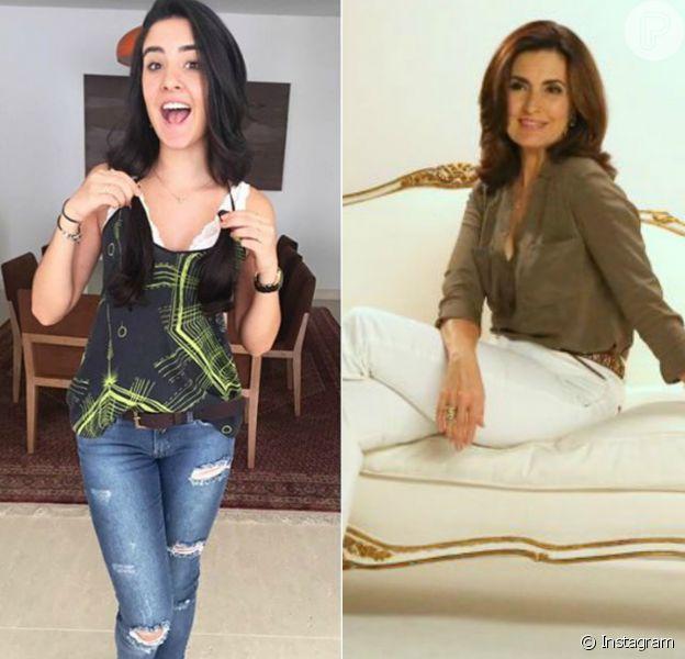 Laura Bonemer cortou os cabelos e foi comparada com a mãe Fátima Bernardes nesta quarta-feira, 06 de janeiro de 2015