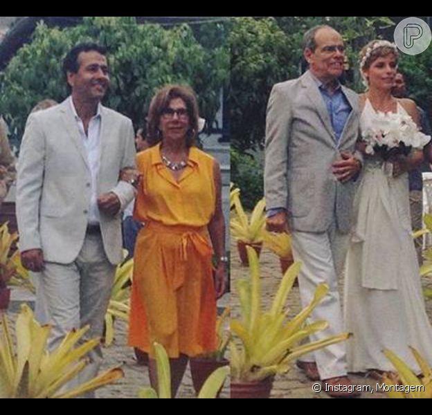 Marcos Palmeira e Gabriela Gastal se casaram no interior da Bahia nesta terça-feira, 5 de janeiro de 2016