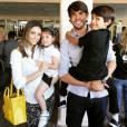 Carol Celico e Kaká são pais de Isabella, de 4 anos, e Luca, de 7