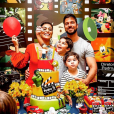 Juliana Paes comemorou o aniversário do filho mais velho, Pedro, com a família