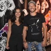Yanna Lavigne encontra o ex Bruno Gissoni em festa com Nando Rodrigues