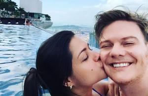 Michel Teló e Thais Fersoza curtem Singapura em viagem juntos: 'Te amo'