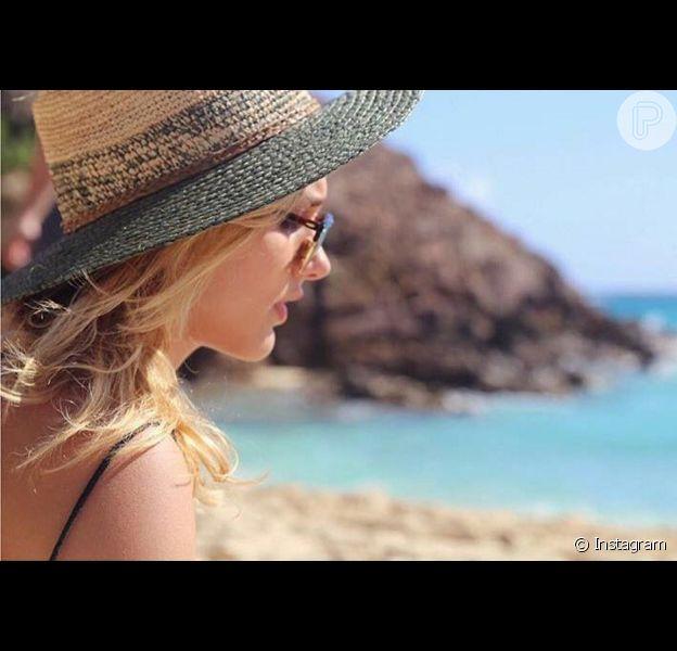 Sasha Meneghel está no Caribe curtindo as férias, após passar Réveillon em Saint Barth com Bruna Marquezine