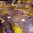 Tinha gente até no viaduto próximo à Feira de São Cristóvão, no Rio, para assistir ao show de Wesley Safadão, nesta terça-feira, 19 de janeiro de 2016