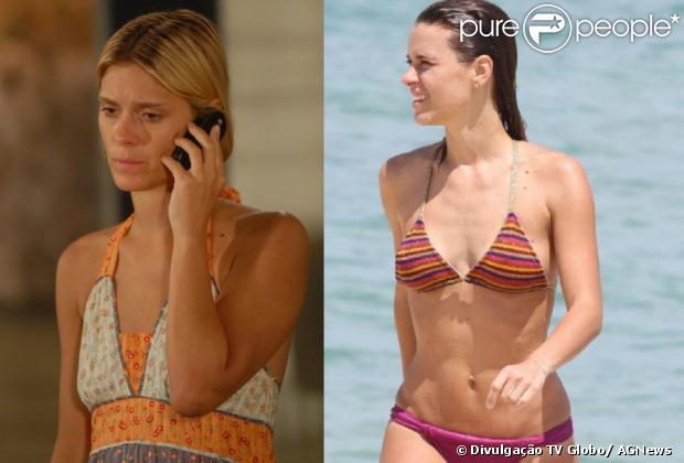Antes e depois de Carolina Dieckmann: a atriz fez um implante de silicone em 2010