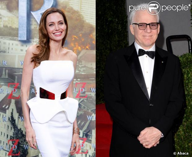 Angelina Jolie e Steve Martin serão homenageados pelo Oscar pelas suas ações, através do seu trabalho, em favor da humanidade