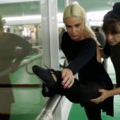 3 minutos com Aline Fanju: atriz mantém boa forma com balé fitness