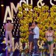 André Marques deu um beijão em uma participante anônima no 'Amor & Sexo' deste sábado (23)