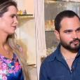 Cantor Luciano falou sobre a paixão pela mulher, Flávia, no 'Domingo Espetacular'
